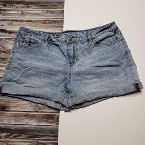 Lauren Conrad Light Wash Cuffed Jean Shorts